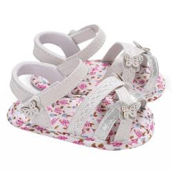 Sandals for Girls Baby Shoes Newborn Summer Cotton Lattice Shoe pink 7-12 months