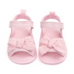 Sandals Girls Cotton Baby Shoes Fashion Newborn Bow Baby Sandal pink 7-12 months