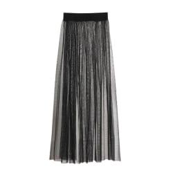 See-through Mesh Skirts Sexy High Waist Skirts Female Skirt black One Size