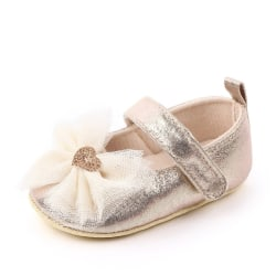 Shoes Cute Solid Color Bowknot Design Anti-Slip Princess Shoes gold 13-18 months china