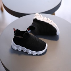 Shoes Socks Shoes LED Woven Breathable Light Soles Baby Shoes black 24