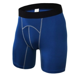 Shorts Men Gym Tights Compression Shorts Sport Men Home Running blue L