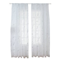 Silver Feathers Lanterns Road Pattern Semi-shading Curtain silver 1*2 Hook