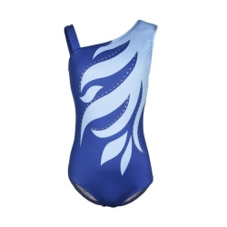 Sleeveless Shoulder Diamond Bright Ballet Gymnastics Clothes Blue XXL