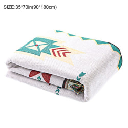 Sofa Towel Sofa Blanket Line Blanket Cotton Woven Living Room a1 90*180cm