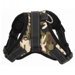 Mjuk justerbar sele Pet Large Dog Walk Out Harness Vest