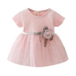 Spring Newborn Baby Girl Dress For Girl 1-2Year Birthday pink