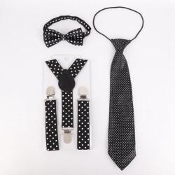 Studenter fluga slipsats kläder tillbehör för barn 3 st