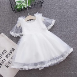 Summer Baby Clothing  Girl Princess Party Dress white 3T