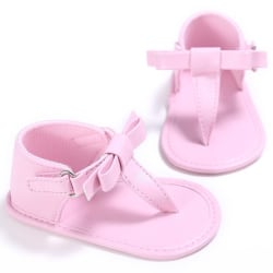 Summer Girls Sandals Flip Flops Bow knot Sandals Non-Slip Infant