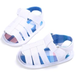 Summer Kids Canvas First Walker Shoe Baby Fashion Non-slip Shoes White S