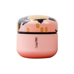 Tea Caddy Box Mini Tin Storage Boxes Coffee Powder Can Organizer pink