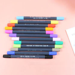 Tip Watercolor Brush Markers Non-Toxic Lettering Markers Pens random color