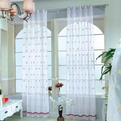 Transparent Curtains Flower Decoration Bedroom Window Curtain l Other Grommet Top