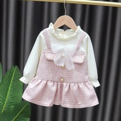 Two-piece Little Fragrance Princess Dress pink 12-18M
