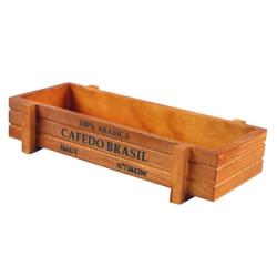 Vintage Wooden Boxes Crates Flower Pot Kitchen Trinket Desktop Khaki