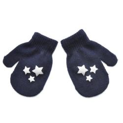 Vinter Höst Barn Full Finger Stickade Handskar Söta Stjärnor Hjärta