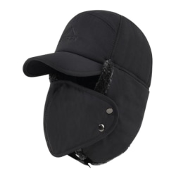 Winter Cycling Bicycle Cap Cold Resistance Windproof Warm Hat Black