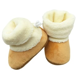 Winter Newborn Baby Prewalker Shoes Infant Toddler Soft Shoes brown l