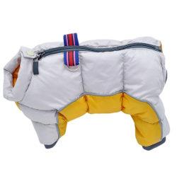 Winter Pet Dog Warm Waterproof Clothes Chihuahua Pug Dog Coat yellow L