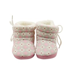 Winter Warm Fleece Soft Soled Shoes Cute Girl Toddlers Snow Boot Pink