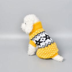 Vintervarm hundkläder Fyrabenströja Liten hundtröja