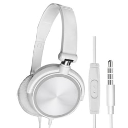 Wired Headset Over Ear HiFi Earphone Games/Computer/Phone white with packing box