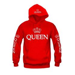 Kvinnor herrtröjor King drottningströjor med tryck