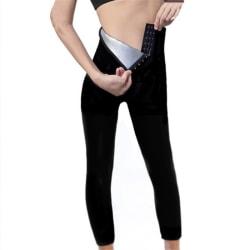 Kvinnor Shaper bantning Silver beläggning förlust midja tränare byxor