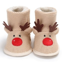Wool Boots Winter Warm Baby Newborn Lovely Shoes For 0-18 Month beige 0-6 months