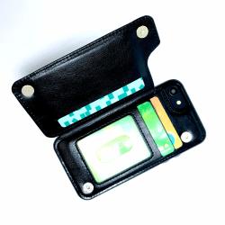 Smart Designat Plånbok Mobilskal till iPhone 8 Svart
