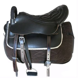 Sadel mini-kort häst ryttartillbehör svart