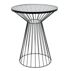 Bord metall/glas Svart 55 cm Black