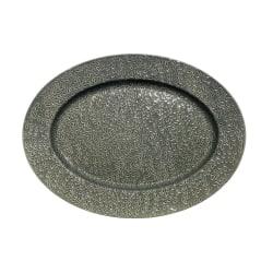Fat Etrusk Uppläggningsfat Grå keramik Ovalt MultiColor one size