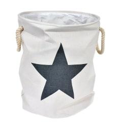 Förvaring Stjärna vit/grå textil White