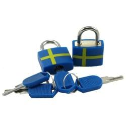 Hänglås Sverige 2-pack