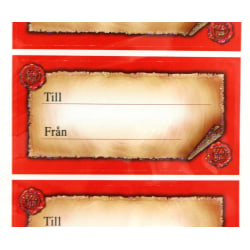 Julklappsetikett 20-pack Red