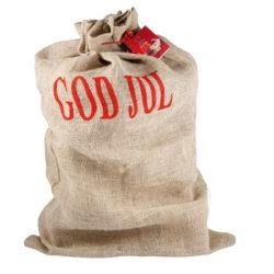 Julklappssäck Jute höjd 100cm tomtesäck säck Brown