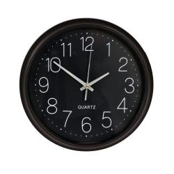 Klocka Svart plast 26 cm Svart