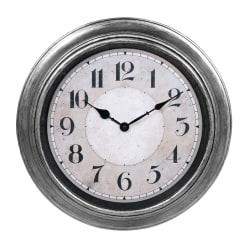 Klocka ur vägg antiksilver d40 väggklocka Silver
