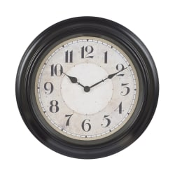 Klocka ur vägg svart d40 väggklocka Svart