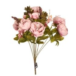 Konstgjorda blommor bukett pioner gammelrosa MultiColor