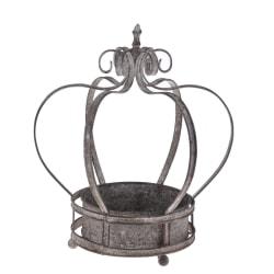 Kruka Krona antikgrå 30 cm grå