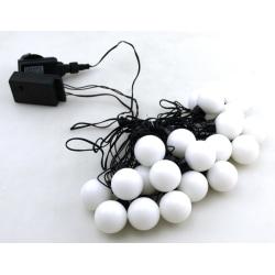 LED-slinga Klot 20 lampor 8 meter Vit