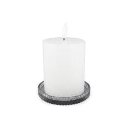 Ljusstake Glas Blockljus Grått 2-pack  grå