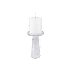 Ljusstake Glas vändbar 16,5 cm Transparent