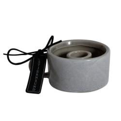Ljusstake Keramik Grå med handtag 2-pack grå