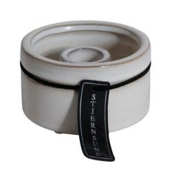 Ljusstake Keramik Vit med hänge 2-pack White