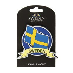 Magnet Souvenir Flagga Sverige multifärg