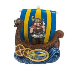 Magnet Souvenir Vikingskepp Viking som äter multifärg